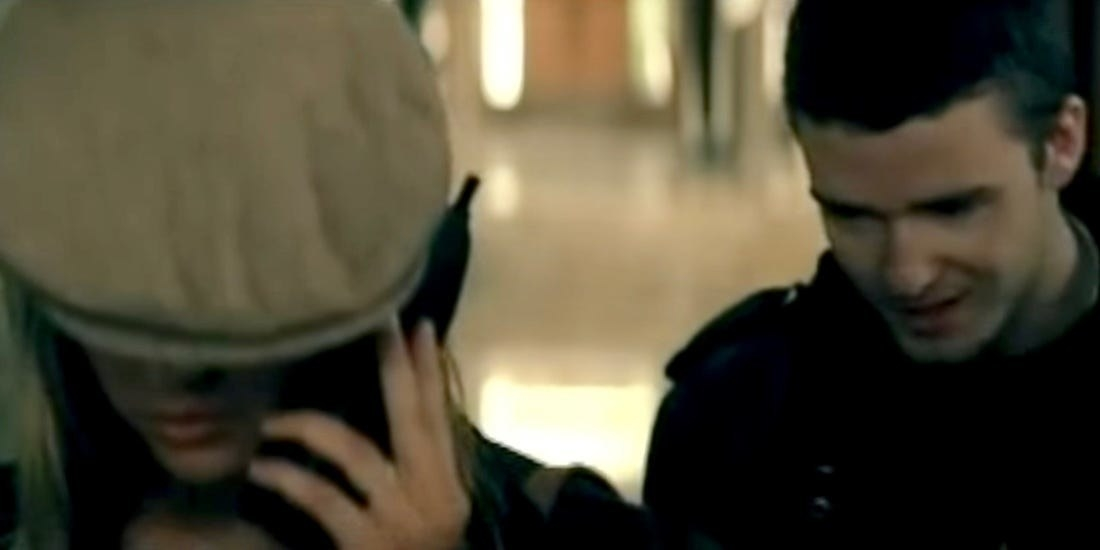 Screenshot from Cry Me a River video
