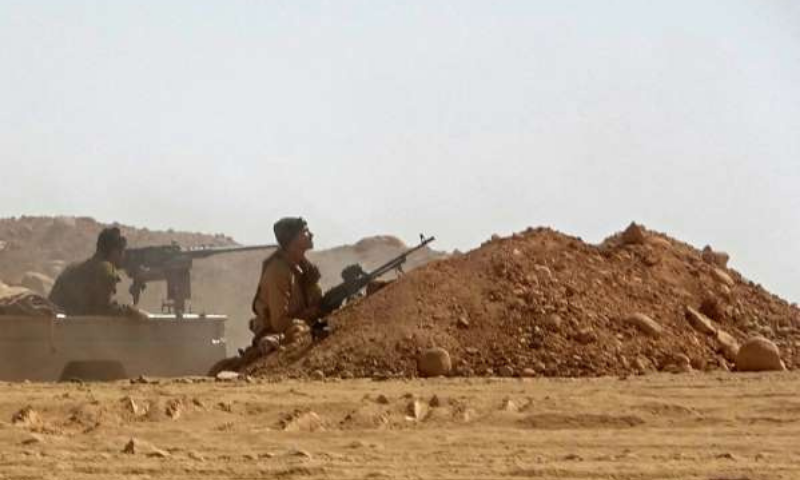 Forces loyal to Yemen's Saudi-backed government, pictured on November 22, 2020, clash with Houthi rebel fighters about 50 kilometres northwest of Marib, the scene of intense fighting in recent months. — AFP