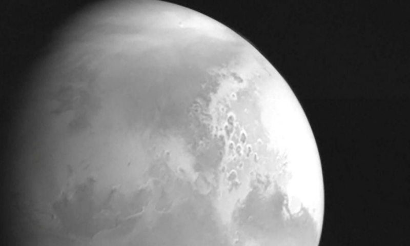China's space agency released video footage from its spacecraft circling Mars on Friday, two days after it successfully entered the planet's orbit in Beijing's latest ambitious space mission. — AFP/File