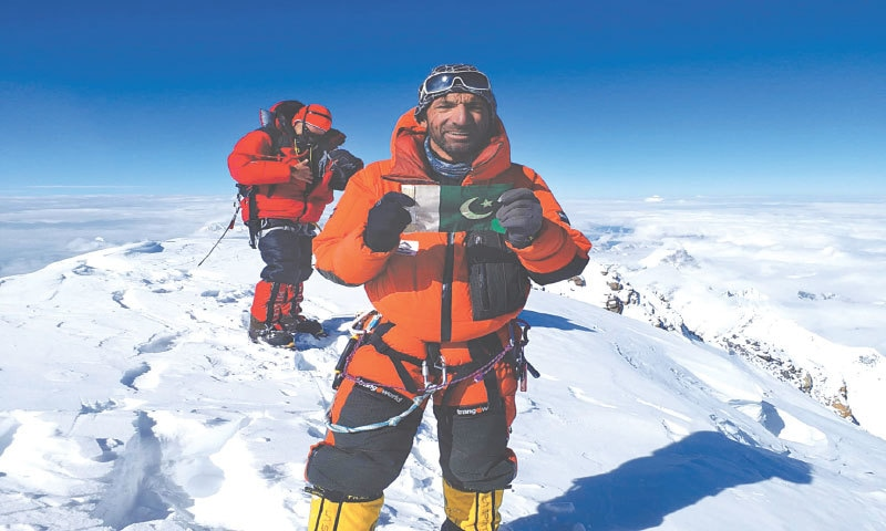 The proud Pakistani at the K2 summit in 2018