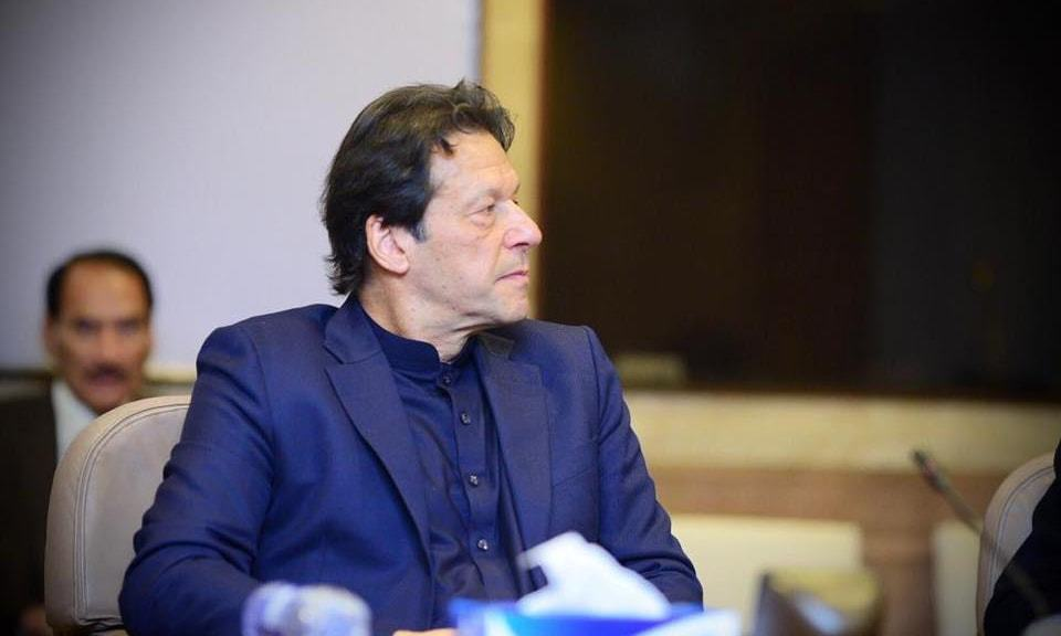 Headed by Prime Minister Imran Khan, the PTI central parliamentary board withdrew the party ticket awarded to business tycoon Abdul Qadir for the Senate election. — PM's Facebook page/File