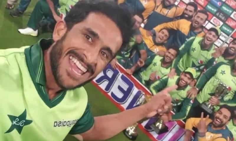 قومی ٹیم کی جنوبی افریقہ کو شکست کے بعد حسن علی کی 'پاوری ' ویڈیو وائرل