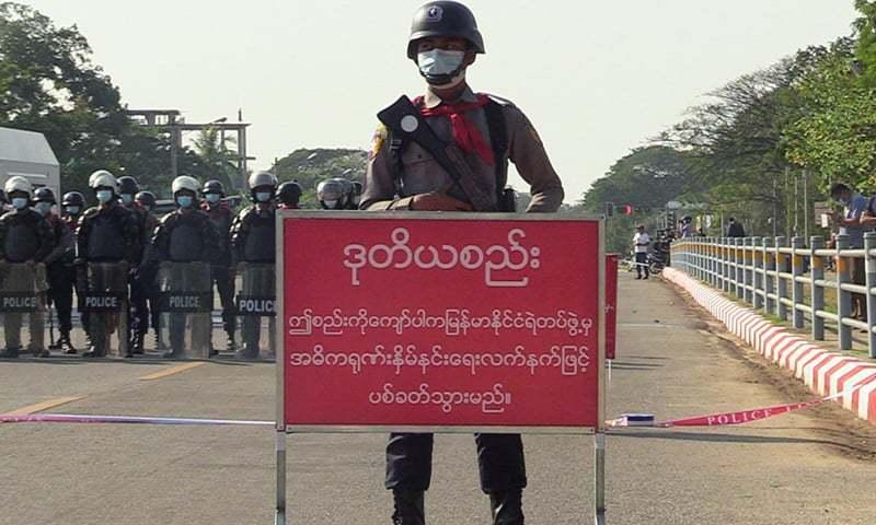 میانمار: فوجی بغاوت کےخلاف مظاہروں کی شدت ختم کرنے کیلئے مزید دستے طلب