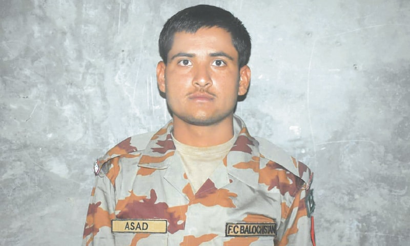 A spokesman for the Inter-Services Public Relations (ISPR) said on Monday that Sepoy Asad Mehdi was martyred in the incident.