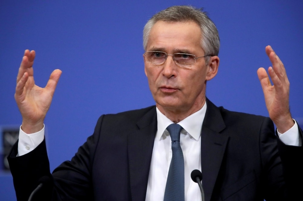 This file photo shows Nato Secretary General Jens Stoltenberg gestures during a news conference. — Reuters