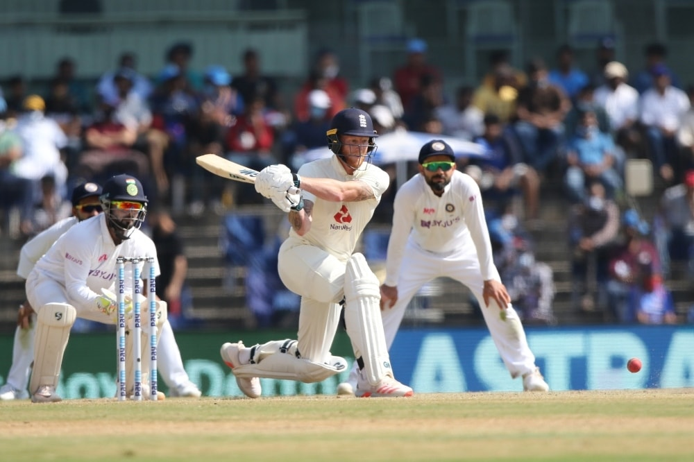 England's Ben Stokes in action during the second Test against India on Tuesday. — Photo courtesy
