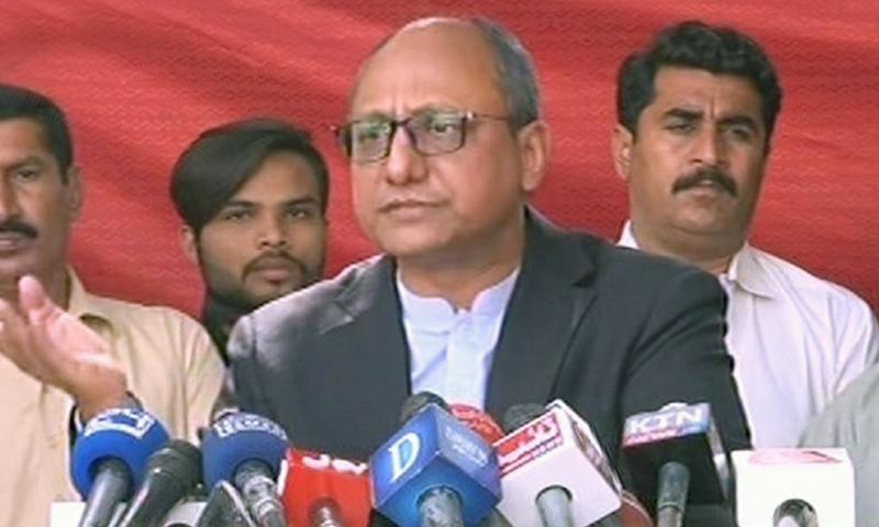 سعید غنی نے کہا کہ سینیٹ انتخابات کے لیے پیپلز پارٹی نے عوامی نمائندے چنے ہیں —تصویر: اسکرین گریب