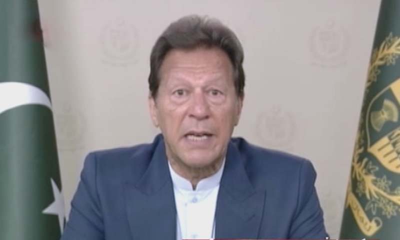 Prime Minister Imran Khan addresses the governing council of the International Fund for Agricultural Development on Wednesday. — DawnNewsTV
