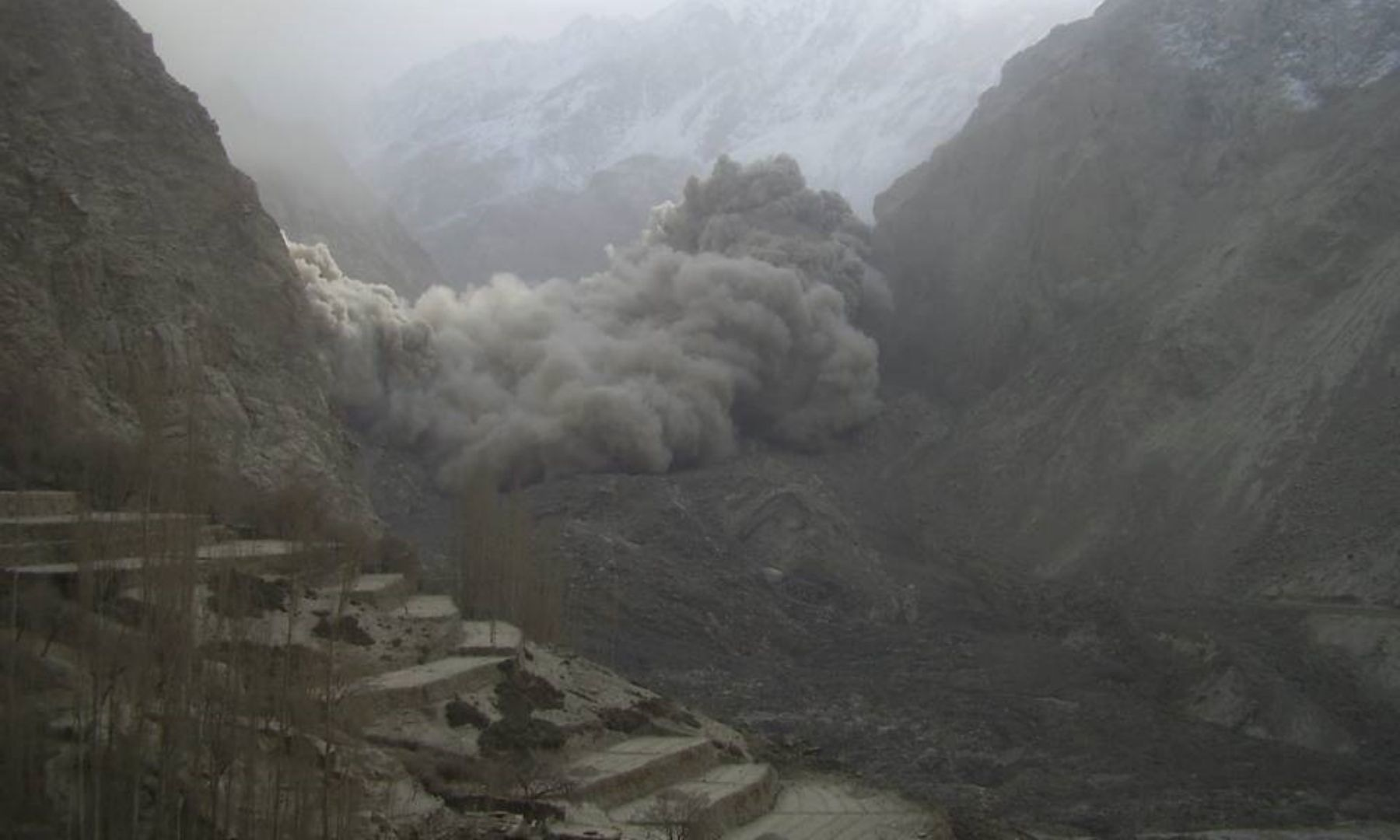 Disasters, such as the one that hit Attabad, can be devastating — image courtesy: AKAH-P