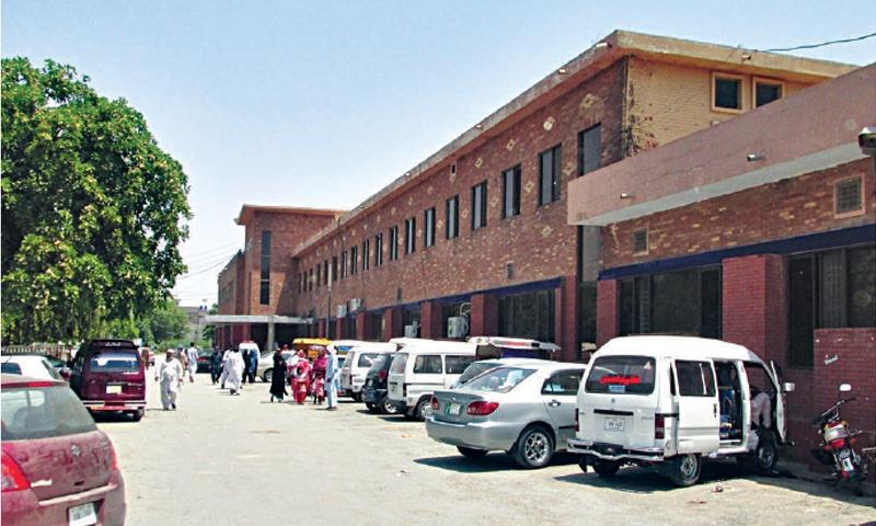 A view of the Aziz Bhatti Shaheed Hospital in Gujrat. — Dawn/File