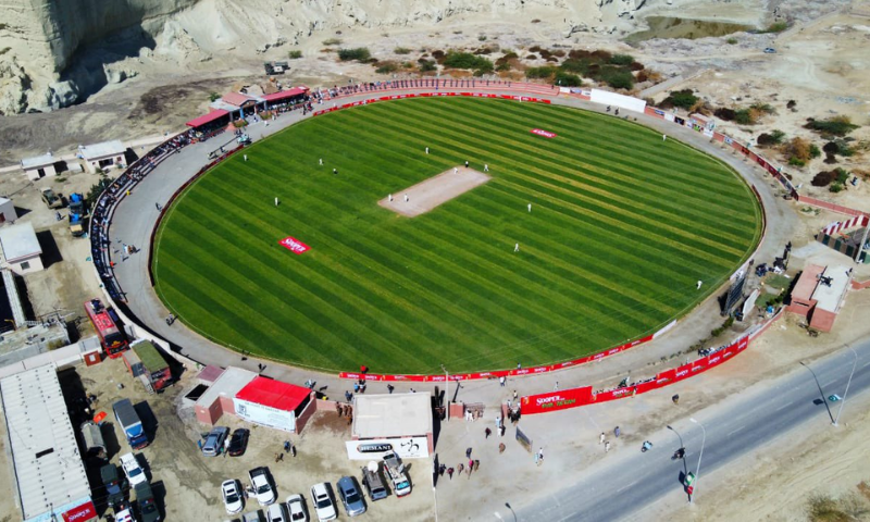 An aerial view of the Gwadar Cricket Stadium. — Ministry of Overseas Pakistanis and HRD Twitter account