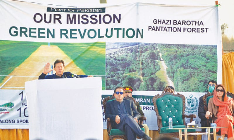 ATTOCK: Prime Minister Imran Khan speaks at the ceremony.—Online