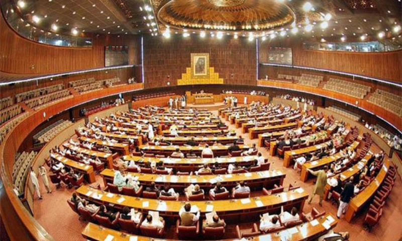 The opposition in the National Assembly on Friday raised the issues of price hike and inflated power bills. — Photo courtesy Government of Pakistan Twitter/File