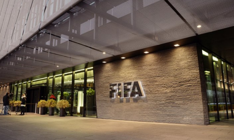 This file photo shows the FIFA Headquarters in Zurich, Switzerland. — AP