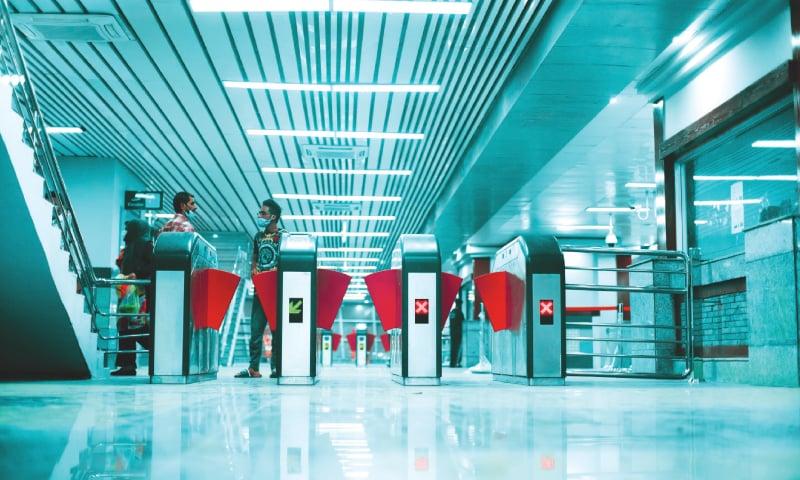 Turnstiles at a train station | Zaroon Ahmad Khan and Abdullah Bajwa