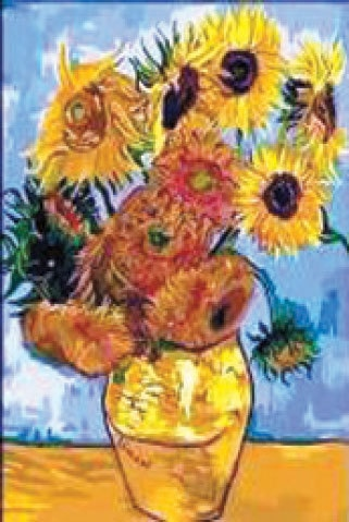 Vase with Fifteen Sunflowers, Vincent Van Gogh | Photos by the writer