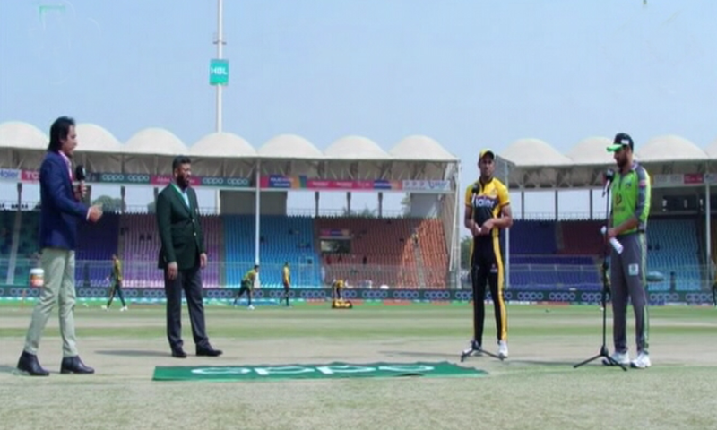 Lahore Qalandars have won the toss and elected to field first in their first match of this year's Pakistan Super League (PSL) tournament against Peshawar Zalmi at the National Stadium in Karachi on Sunday. — DawnNewsTV