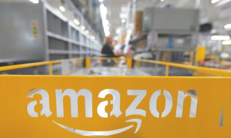 The logo of US online retail giant Amazon is pictured at the distribution centre in Moenchengladbach, western Germany. Amazon will have to specify the origin of the fruits and vegetables it sells in Germany on its online shopping platform dedicated to fresh produce, ruled a German court last week.—AFP