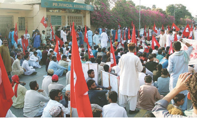The protesters also called for legislation to prevent 'outsider' national as well as multinational companies from buying lands in the province.