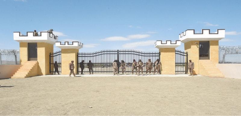A VIEW of a Pak-Afghan border crossing near Badini.—B.K. Yousafzai