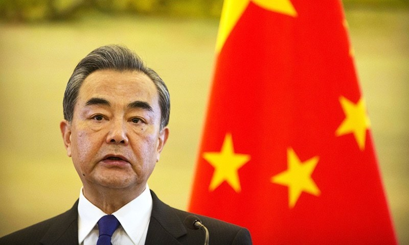 In this Thursday, April 13, 2017 file photo, Chinese Foreign Minister Wang Yi speaks during a joint press conference with the Palestinian Foreign Minister at the Ministry of Foreign Affairs in Beijing. — AP