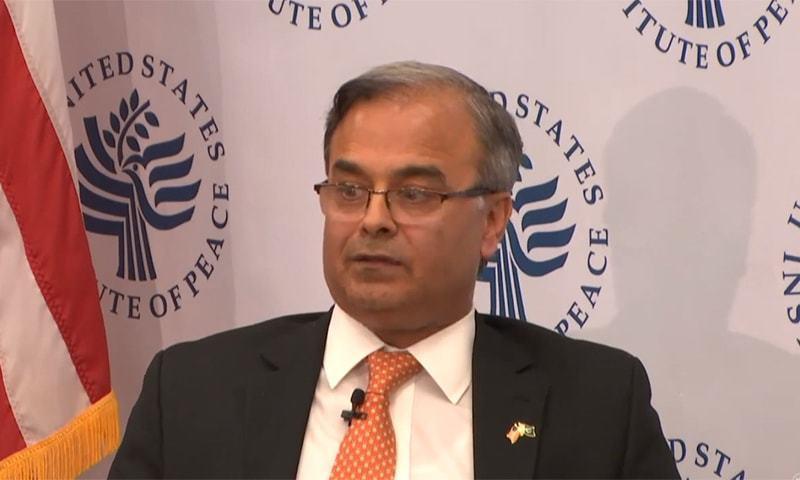 امریکا میں پاکستان کے سفیر اسد مجید خان—تصویر: اسکرین گریب