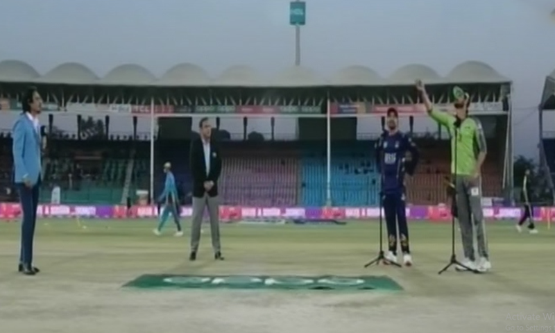 Lahore Qalandars won the toss and decided to bowl first against Quetta Gladiators. — DawnNewsTV