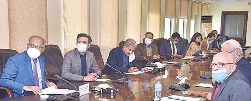 ISLAMABAD: Finance Minister Dr Abdul Hafeez Shaikh is chairing a meeting of the National Price Monitoring Committee on Monday.—APP