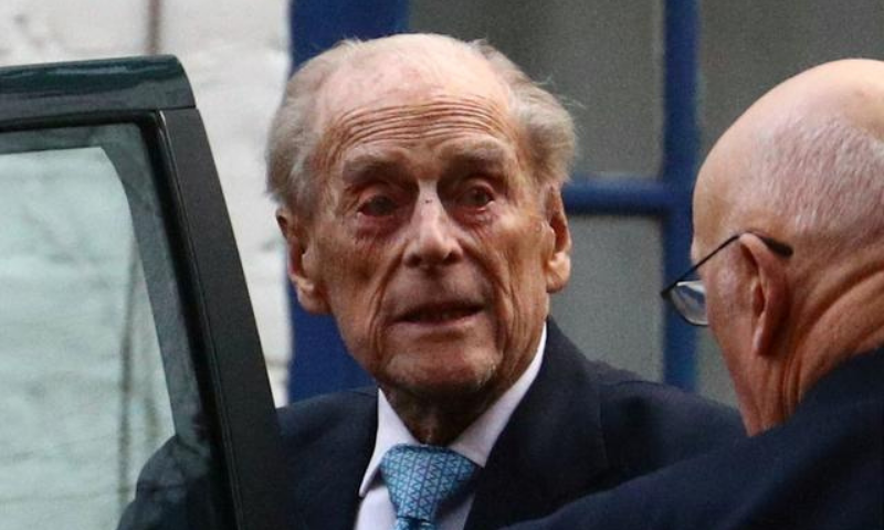 In this file photo, Britain's Prince Philip enters a car as he leaves the King Edward VII's Hospital in London. — Reuters