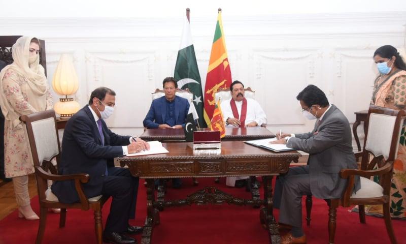 پاکستان، سری لنکا کے مابین مختلف شعبوں میں تعاون کیلئے مفاہمت کی یادداشتوں پر دستخط