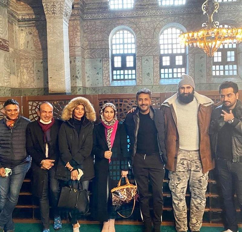 عدنان صدیقی، ہمایوں سعید و تکدن فلمز سے بیک وقت ملاقاتوں سے عندیہ ملتا ہے کہ ریما بھی ترک لالا کا حصہ ہوں گی—فوٹو: انسٹاگرام