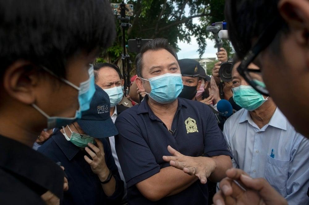 This file photo shows Thai Education Minister Nataphol Teepsuwan. — AP
