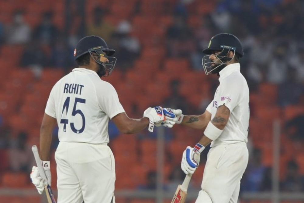 Rohit Sharma and Virat Kohli during the day-night third Test in Ahmedabad. — Photo courtesy BCCI