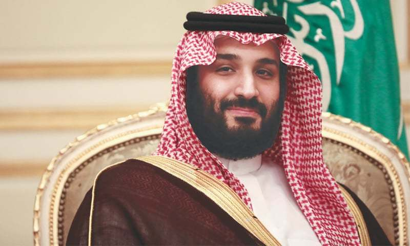 Saudi Crown Prince Mohammed bin Salman during a bilateral meeting with UK Prime Minister Theresa May on April 4, 2017.—Bloomberg/File