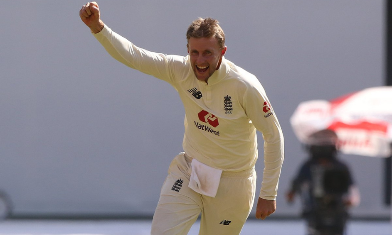 England skipper Joe Root claimed his maiden Test five-wicket haul.— Photo courtesy ECB Twitter