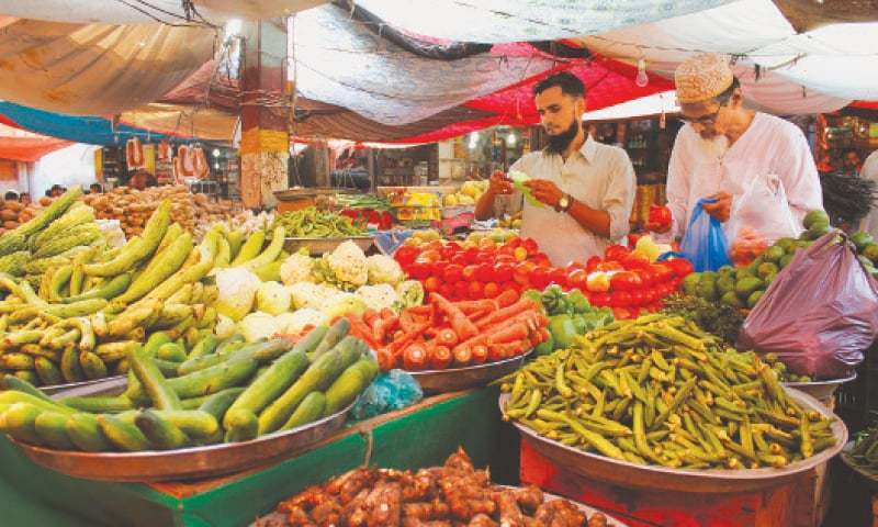 Weekly inflation for the combined group in the period ended on Feb 25 increased by 2.41 per cent on the back of an uptick in prices of essential food items. — Dawn/File