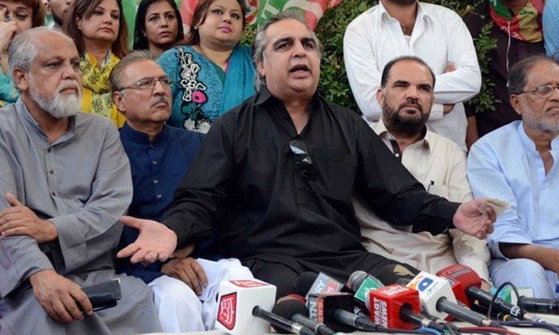 In this file photo, Sindh Governor Imran Ismail address a press conference. — INP