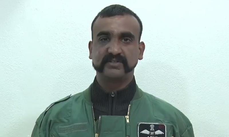 Indian Air Force (IAF) Wing Commander Abhinandan speaks in his video message. — DawnNewsTV/File