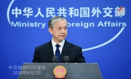 Chinese foreign ministry spokesman Wang Wenbin addresses a press briefing. — Photo courtesy China's Ministry of Foreign Affairs website/File