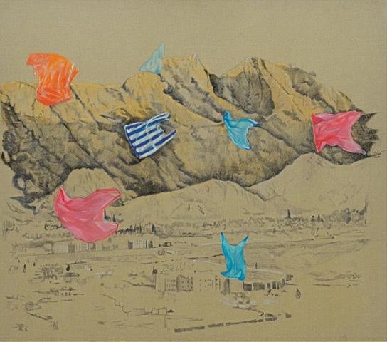 Landscape With Floating Objects (2017), Suleman Aqeel Khilji