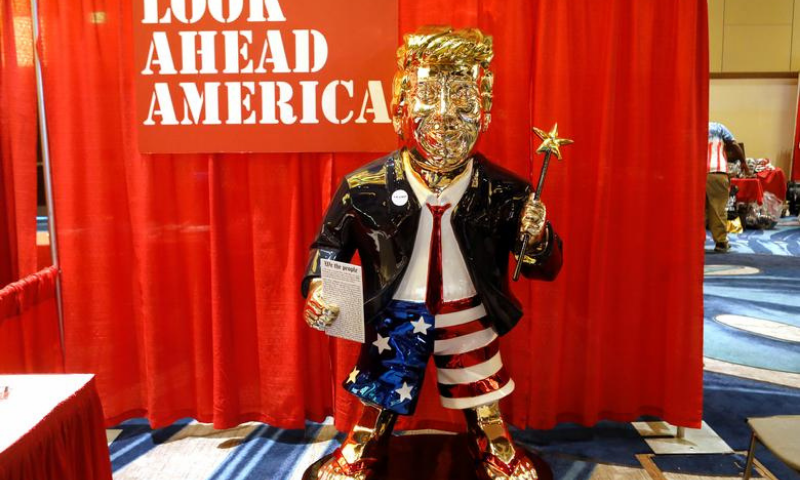 A statue of former United States president Donald Trump is pictured at the Conservative Political Action Conference (CPAC) in Orlando, Florida, US on Friday. — Reuters