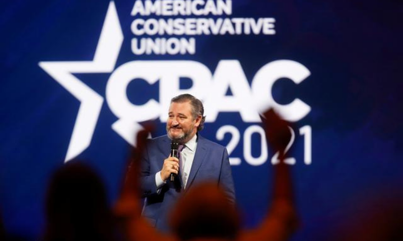US Senator Ted Cruz of Texas speaks at the Conservative Political Action Conference (CPAC) in Orlando, Florida on Friday. — Reuters