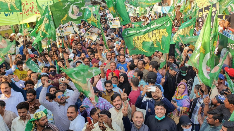 The PML-N has begun a fundraising campaign to finance the Pakistan Democratic Movement's long march likely to be held by the end of the current month (March). — Photo courtesy: PML-N Twitter