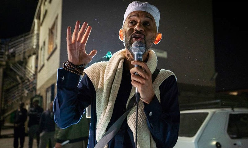 شیخ حسن پانڈے ہفتہ وار مجالس کے اہم خطیب ہیں—فوٹو: شیراز محمد/ بی بی سی