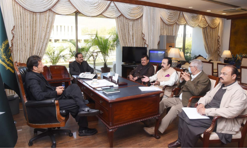 Prime Minister Imran Khan meets members of the National Assembly (MNAs) in Islamabad on Tuesday. — PID