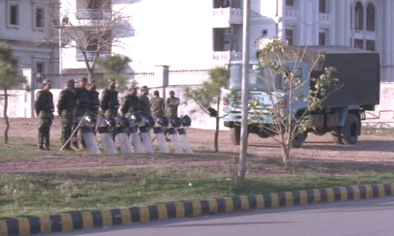 Extra security had been deployed outside assemblies for polling day.