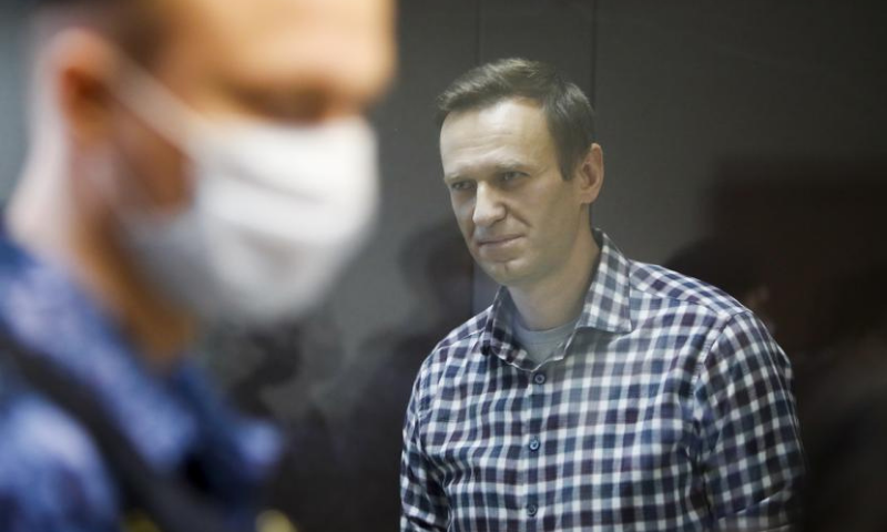 Russian opposition politician Alexei Navalny attends a hearing to consider an appeal against an earlier court decision to change his suspended sentence to a real prison term, in Moscow, Russia in this Feb file photo. — Reuters