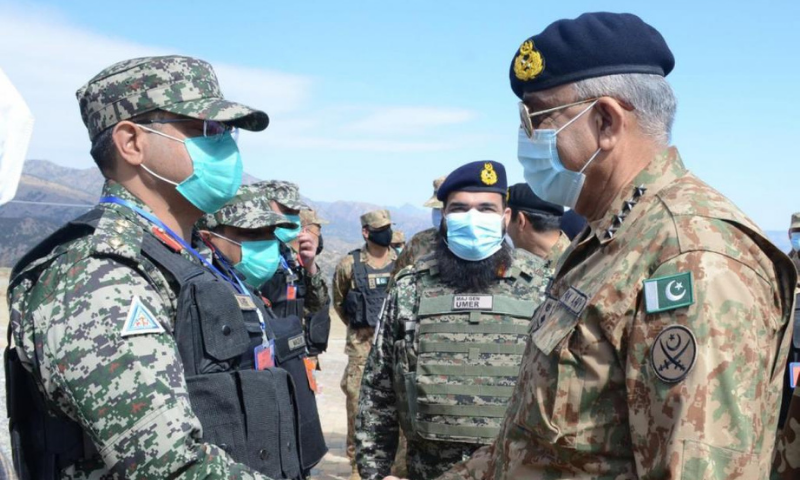 Army Chief General Qamar Javed Bajwa visited the North and South Waziristan tribal districts on Tuesday, where he spent the day with troops. — Photo courtesy ISPR