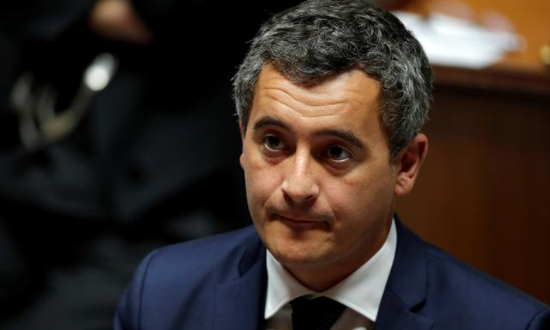 """Interior Minister Gerald Darmanin posted the decree dissolving the group on Twitter, saying it """"incites discrimination, hatred and violence"""" and has ties to white supremacist groups. — Reuters/File"""