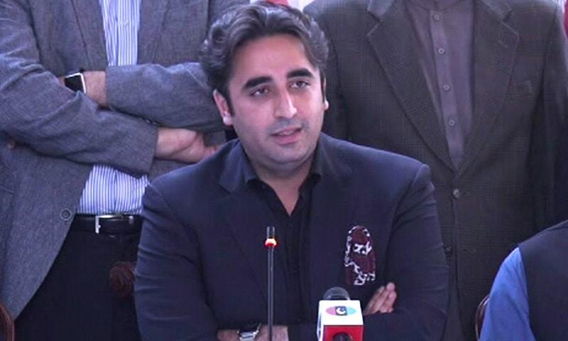 PPP chairman Bilawal Bhutto-Zardari addresses a press conference in Islamabad. — DawnNewsTV